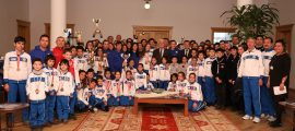 Büyükşehir Sporcularından Başkan Gürün'e ziyaret (2)
