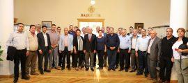 Köyceğiz muhtarlarından tam kadro Başkan Gürün'e ziyaret (13)