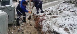 Büyükşehir'in kar mesaisi devam ediyor (5)