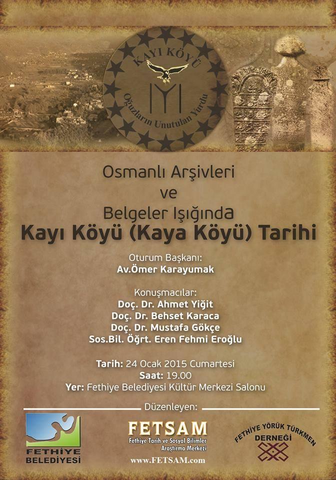 Osmanlı Belgeleri Işığında Kayı (Kaya) Köyü Paneline Davetlisiniz