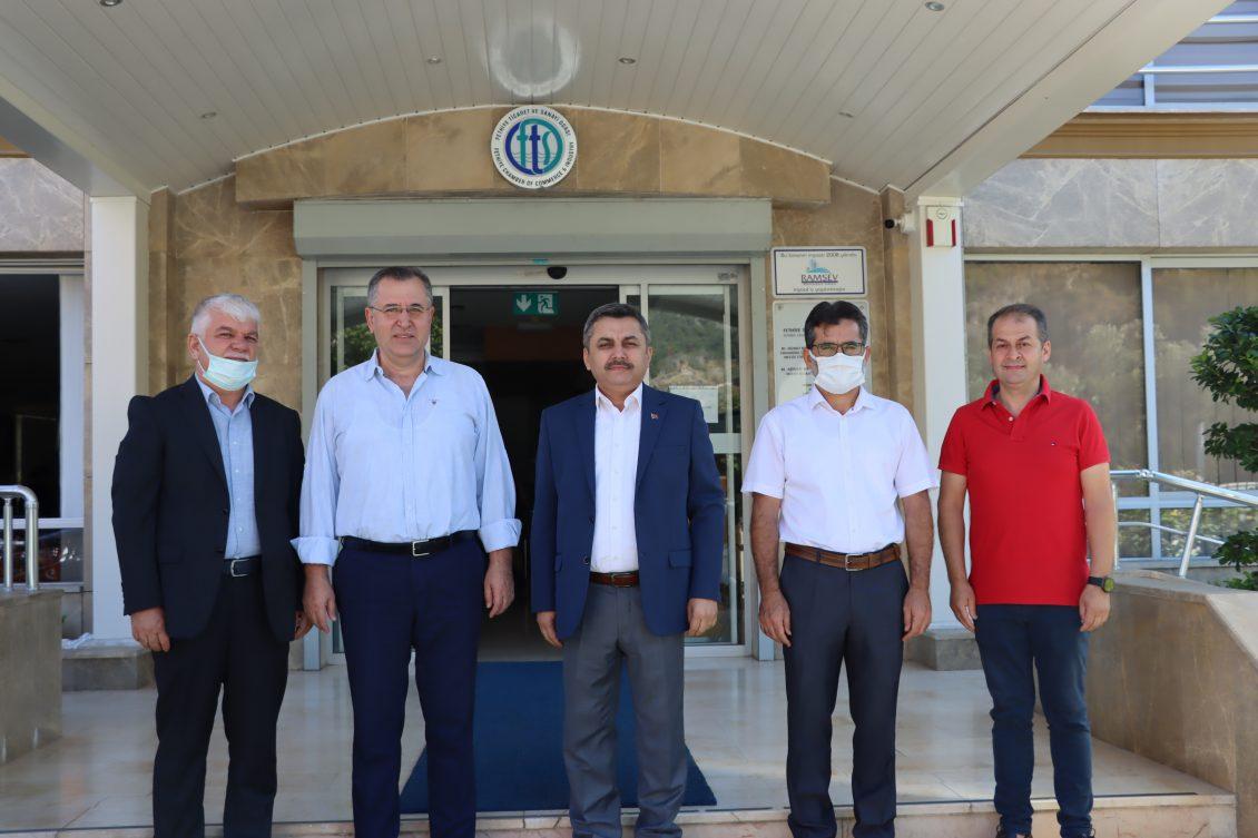 MÜFTÜ KAMİL OKTAY, AHİLİK HAFTASI DOLASIYLA FTSO'YU ZİYARET ETTİ